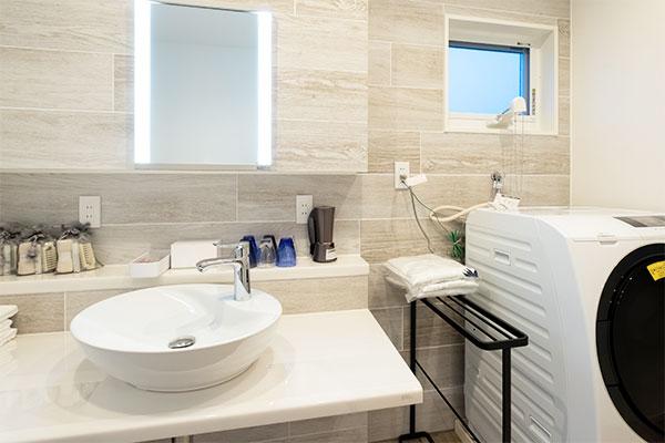 清潔感のある洗面室